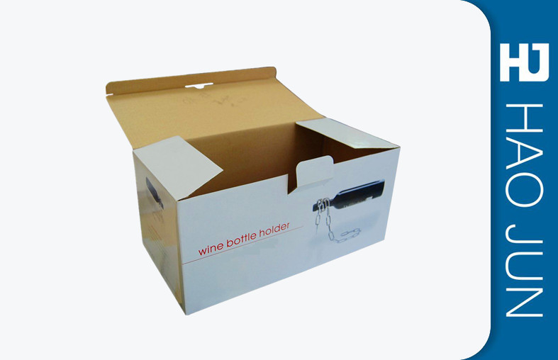 Cardboard Storage Boxes For Wine Custom Printed Corrugated Boxes With Handle