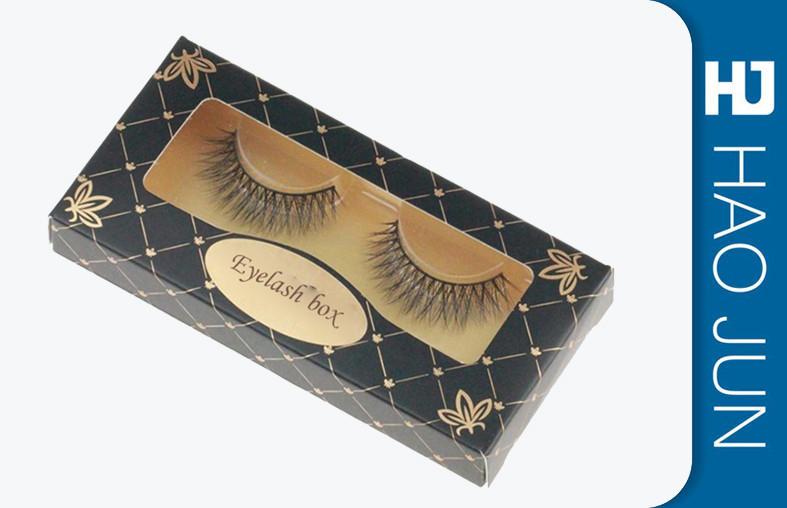 Book Style Cosmetic Paper Boxes Custom Eyelash Boxes With PVC Window